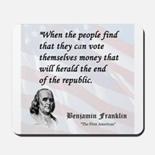 Franklin on...Money Mousepad