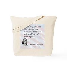 Franklin on...Money Tote Bag
