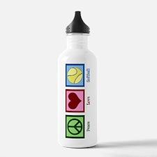 Peace Love Softball Sports Water Bottle