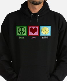 Peace Love Softball Hoodie