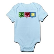 Peace Love Softball Infant Bodysuit