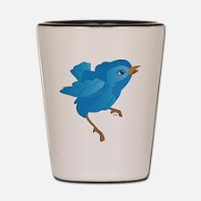 Bluebird Shot Glass