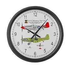 P-51 Mustang Tuskegee Airman Large Wall Clock