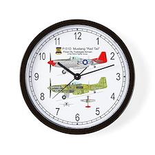 P-51 Mustang Tuskegee Airman Wall Clock