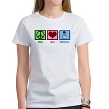 Peace Love Badminton Tee