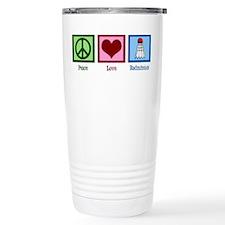 Peace Love Badminton Travel Mug