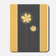 Trendy Floral Decor Mousepad