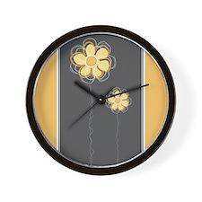 Trendy Floral Decor Wall Clock