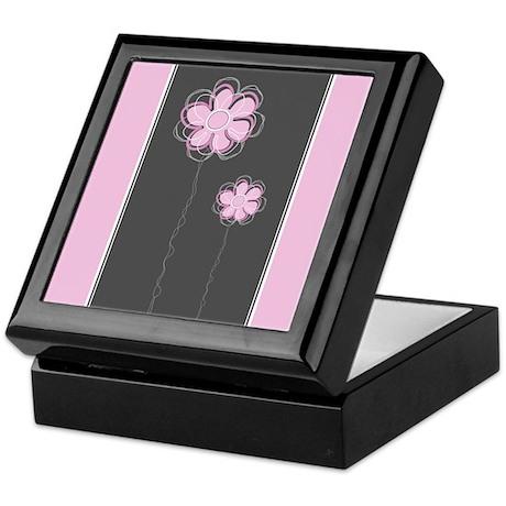 Trendy Floral Decor Keepsake Box