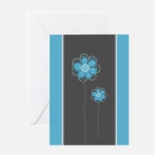 Trendy Floral Decor Greeting Card