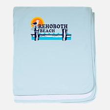 Rehoboth Beach DE - Beach Design baby blanket