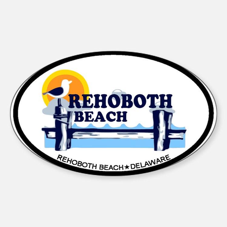 Rehoboth Beach DE - Beach Design Decal