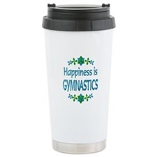 Happiness Gymnastics Travel Coffee Mug