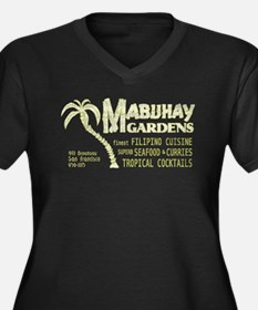 Mabuhay Gardens Women's Plus Size V-Neck Dark T-Sh