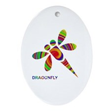 dragonfly Ornament (Oval)