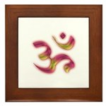 Ohm/Aum Face Meditation/Yoga Framed Tile