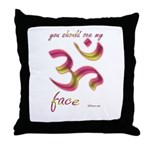 Ohm/Aum Face Meditation/Yoga Throw Pillow