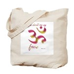 Ohm/Aum Face Meditation/Yoga Tote Bag