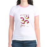 Ohm/Aum Face Meditation/Yoga Jr. Ringer T-Shirt