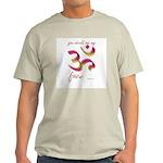 Ohm/Aum Face Meditation/Yoga Ash Grey T-Shirt