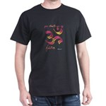 Ohm/Aum Face Meditation/Yoga Black T-Shirt