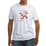Ohm/Aum Face Meditation/Yoga Fitted T-Shirt