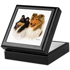 Rough Collie Keepsake Box