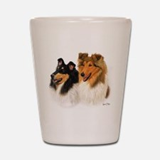 Rough Collie Shot Glass
