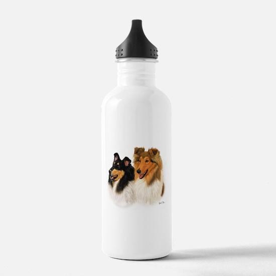 Rough Collie Water Bottle