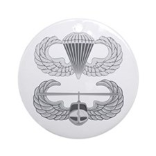 Airborne and Air Assault Ornament (Round)