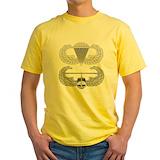 Airborne Mens Classic Yellow T-Shirts