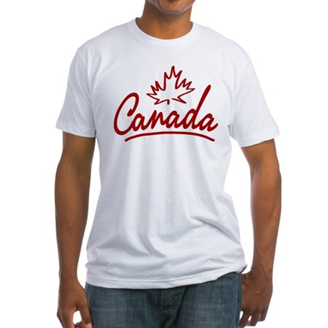 Canada Leaf Script Fitted T-Shirt