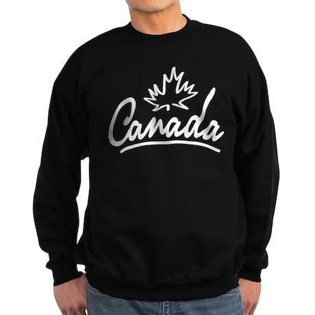 Canada Leaf Script Sweatshirt (dark)