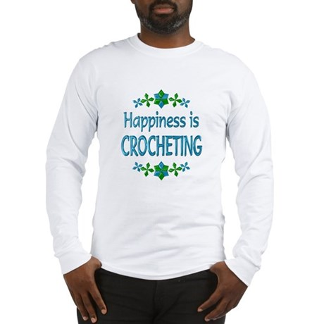 Happiness Crocheting Long Sleeve T-Shirt