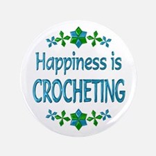 """Happiness Crocheting 3.5"""" Button"""
