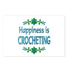 Happiness Crocheting Postcards (Package of 8)