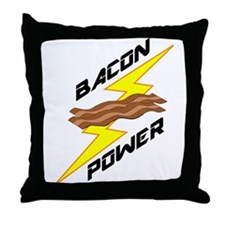 Bacon Power Throw Pillow