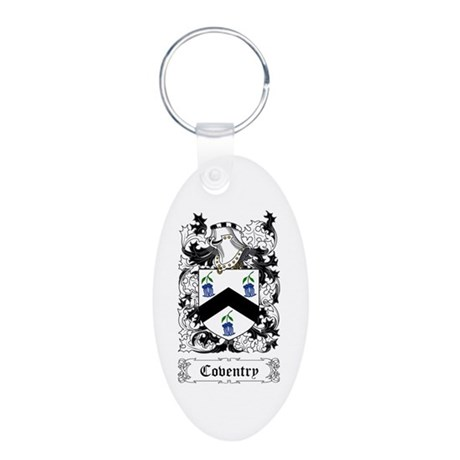 Coventry Aluminum Oval Keychain
