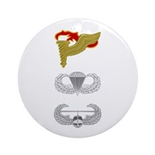 Pathfinder Airborne Air Assault Ornament (Round)