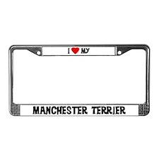 I Love My Manchester Terrier License Plate Frame