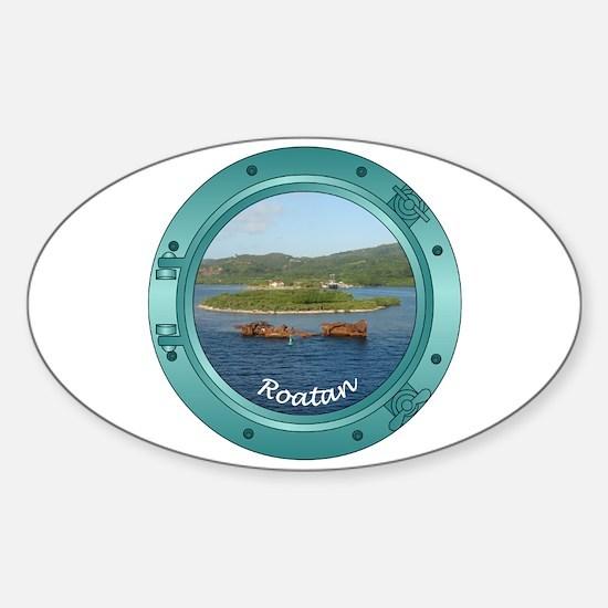 Roatan Porthole Sticker (Oval)