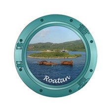 "Roatan Porthole 3.5"" Button (100 pack)"