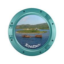 """Roatan Porthole 3.5"""" Button"""