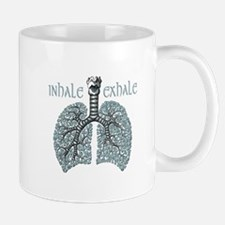 Anatomy of Breath in Blue Mug