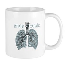 Anatomy of Breath in Blue Mug
