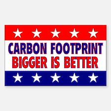 Carbon Footprint Rectangle Decal