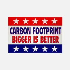 Carbon Footprint Rectangle Magnet