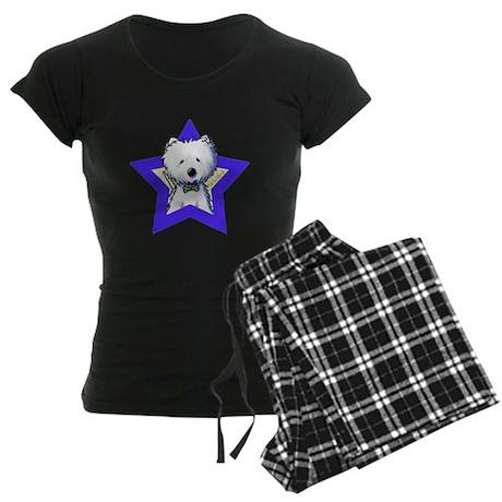 Westie Star Women's Dark Pajamas