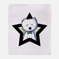 Westie Star Throw Blanket