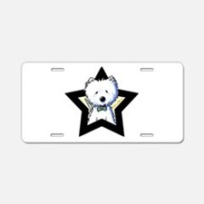 Westie Star Aluminum License Plate